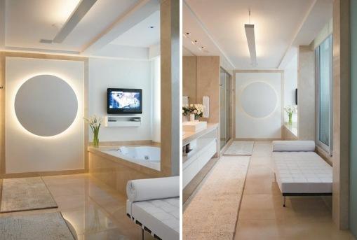 decoração de banheiro de luxo