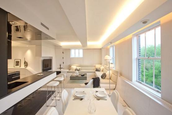moderno apartamento led Decoração de apartamentos: Iluminação LED