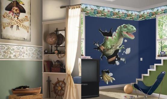 dino quarto Decoração de um quarto de rapaz
