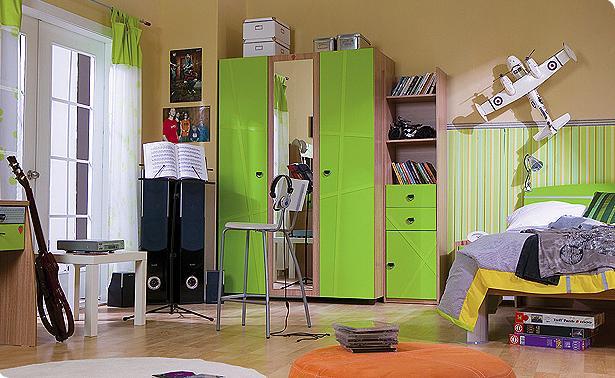quarto verde adolescente Decoração de um quarto de rapaz