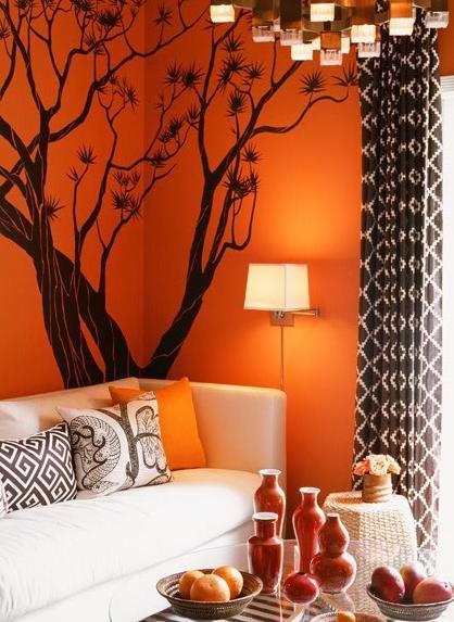 Sala De Estar Com Laranja ~ Como decorar uma sala de estar pequena