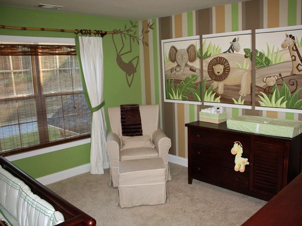 tema safari Decoração de um quarto de rapaz
