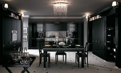 Decora o de cozinhas com branco e preto - Gran casa mobili ...