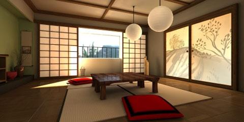 Decora o de inspira o japonesa for Mesa japonesa tradicional