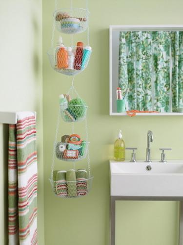 Ideias de arrumação para um banheiro pequeno