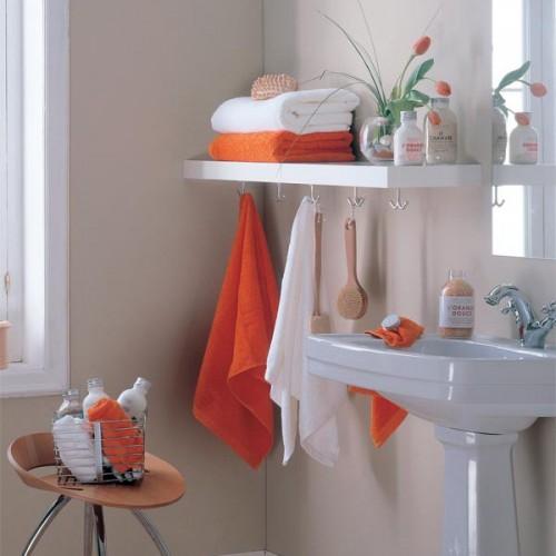 pratelira ganchos Ideias de arrumação para um banheiro pequeno