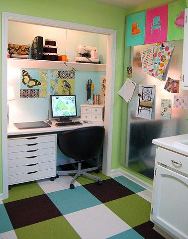 escritorio alegre Decoração de um escritório em casa