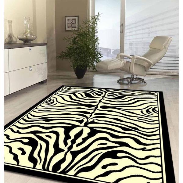 Decora o com padr es de animais for Zebra tapete