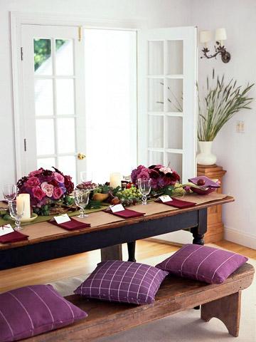 Decorar com um toque de roxo for Como e dining room em portugues