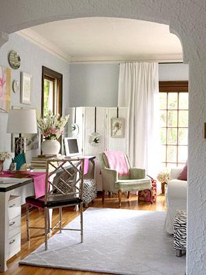 salas escritorio Como decorar divisões multifuncionais