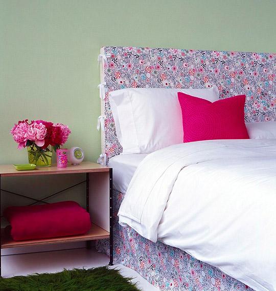 Inspire se e recicle a decora o com tecidos - Forrar cabeceros de cama ...