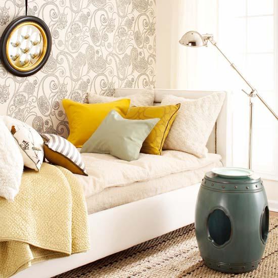 cinza amarelo Sugestões de decoração com cinza