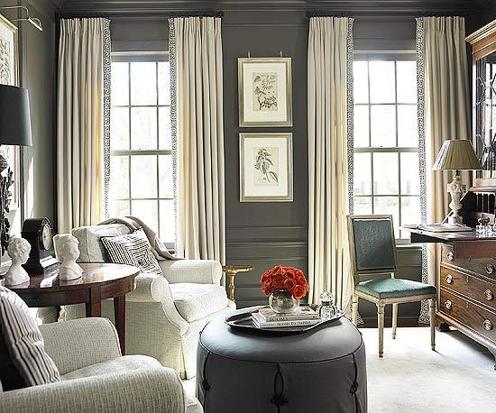 cinza escuro sala Sugestões de decoração com cinza