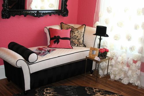 elegante quarto Decoração alegre e divertida para o quarto de uma adolescente