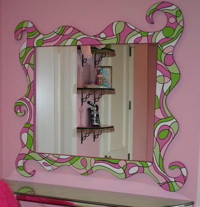 espelho quarto adolescente Decoração alegre e divertida para o quarto de uma adolescente
