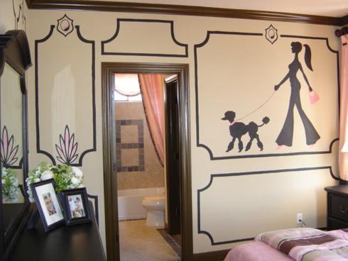 parede adolescente Decoração alegre e divertida para o quarto de uma adolescente