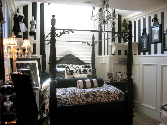 quarto adolescente elegante Decoração alegre e divertida para o quarto de uma adolescente