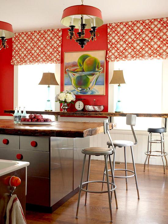 vermelho cozinha Dicas para decorar com vermelho