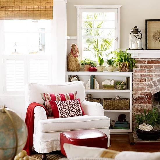 vermelho sofa Dicas para decorar com vermelho