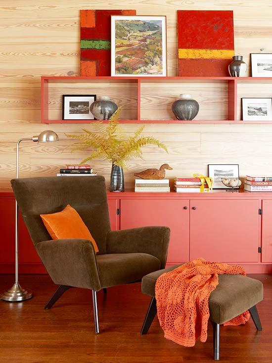 vermleho madeira Dicas para decorar com vermelho
