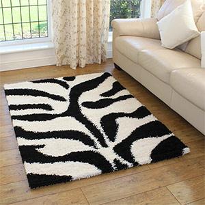 Tapetes listrados em branco e preto for Zebra tapete