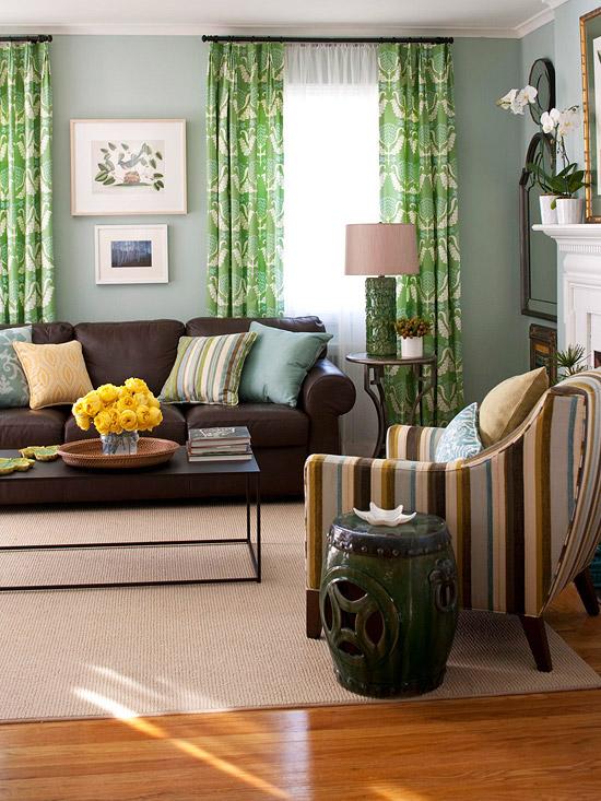 Decorar A Casa Com Apontamentos De Verde