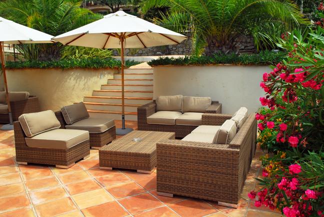 patio Dicas de decoração para um pequeno pátio