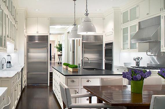 cozinha branca2 Ideias de decoração para uma cozinha de cor branca