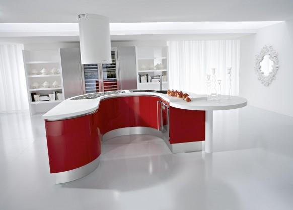 cozinha vermelha branca Ideias de decoração para uma cozinha de cor branca