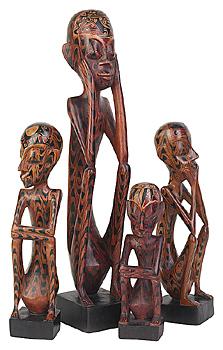 figuras africanas Decoração com um toque de África