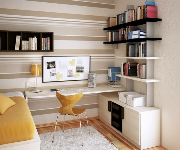 moveis prateleiras Como mobilar espaços pequenos