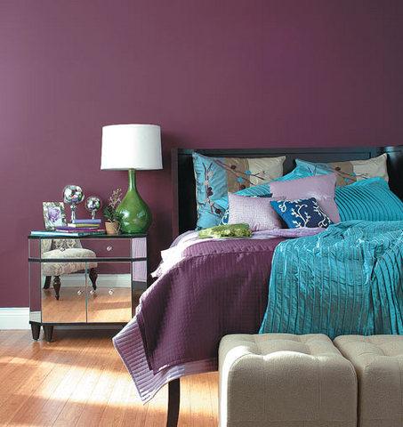 decor roxo Decoração de quartos com roxo