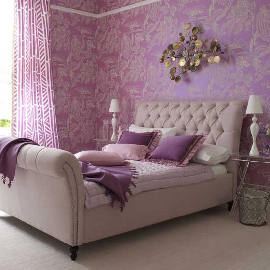 quarto roxo Decoração de quartos com roxo