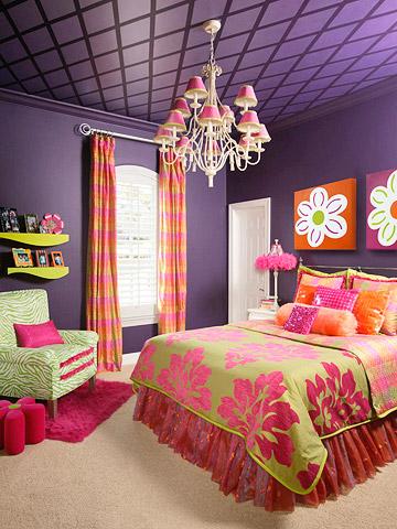 querto roxo Decoração de quartos com roxo