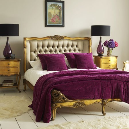 roxo quarto Decoração de quartos com roxo