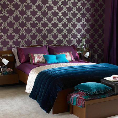 turquesa roxo castanho quarto Decoração de quartos com roxo
