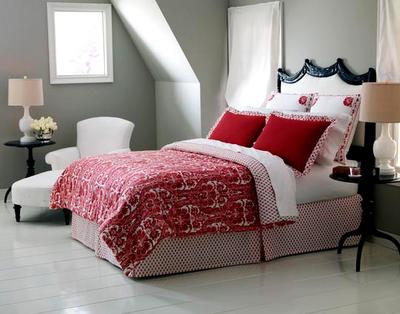 quarto branco vermelho Decoração de quartos: preto, branco e vermelho