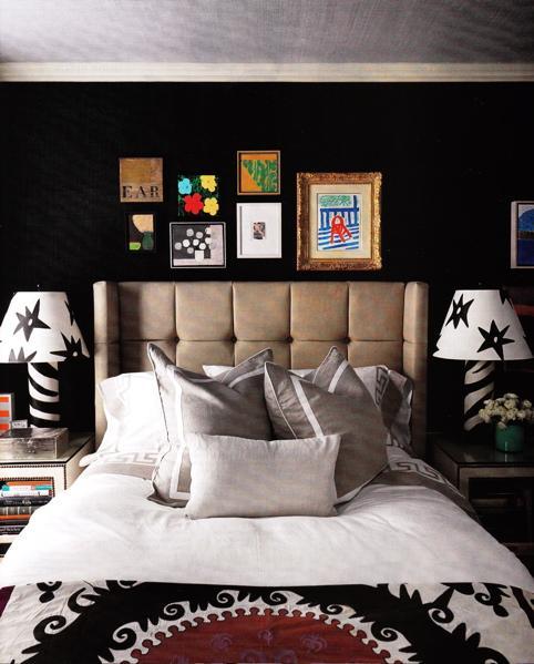 quarto preto Decoração de quartos: preto, branco e vermelho