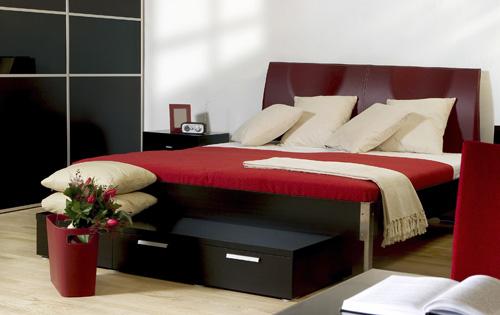 quarto vermelhp Decoração de quartos: preto, branco e vermelho