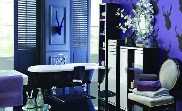 decoracao banheiro retro:vintage-banheiro