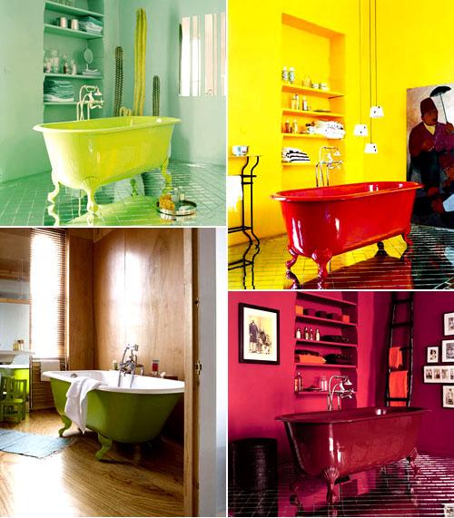 banheiro colorido Ideias de decoração para um banheiro familiar