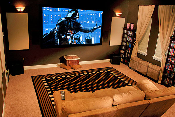 sala home theater Como decorar uma sala de Home Theater