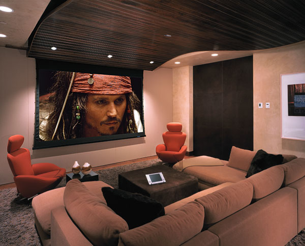 sala media2 Como decorar uma sala de Home Theater