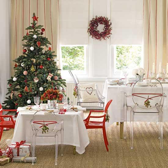 como decorar a casa para o natal. Black Bedroom Furniture Sets. Home Design Ideas