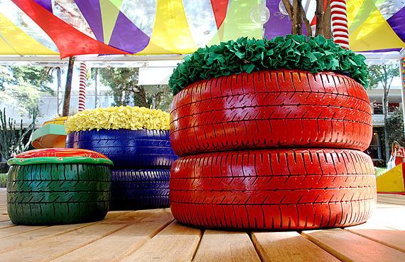 floreira-pneus