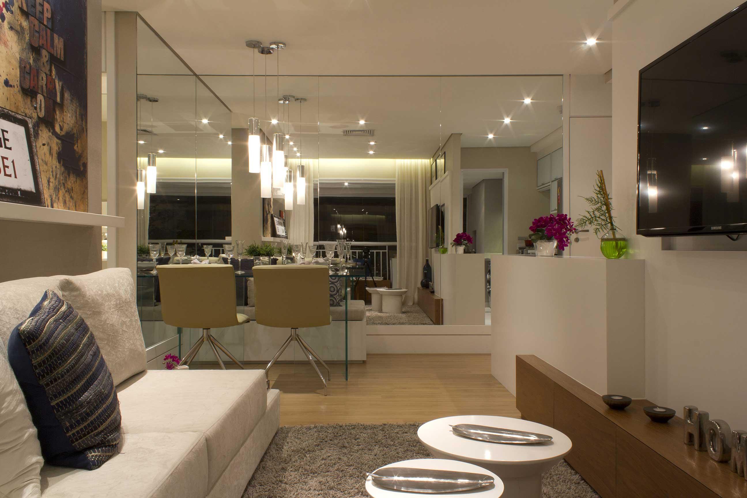#525E13 Decoração para apartamentos pequenos: truques para aproveitar melhor  2592x1728 píxeis em Como Decorar A Sala De Estar Com Espelho