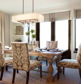 Sala de jantar bem decorada para juntar a família