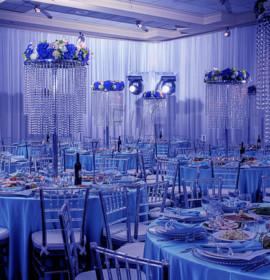 Decoração de casamento em azul