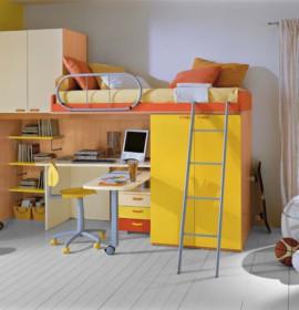 Decoração de quartos com beliches e bicamas para crianças