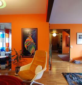 Ideias para pintar as paredes com cores quentes